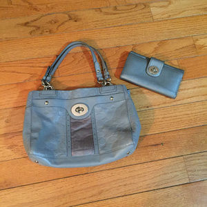 Coach monogram purse and Matching wallet gray